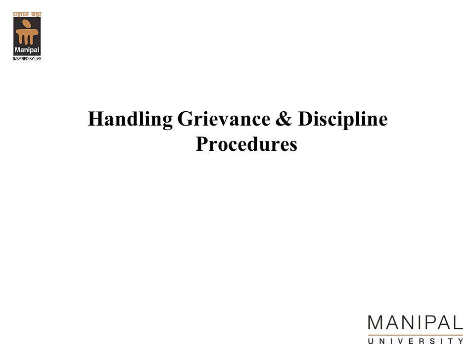 Handling Grievance & Discipline Procedures