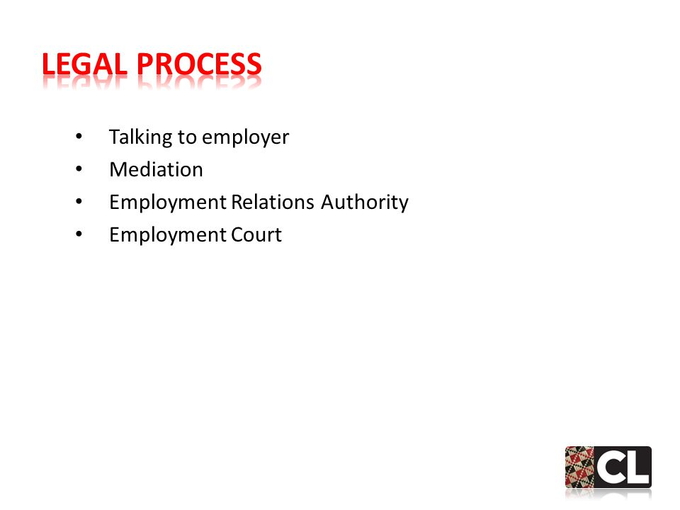 Talking to employer Mediation Employment Relations Authority Employment Court
