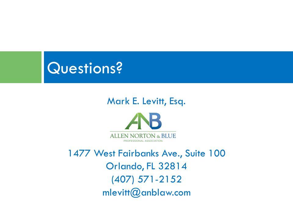 Mark E. Levitt, Esq.