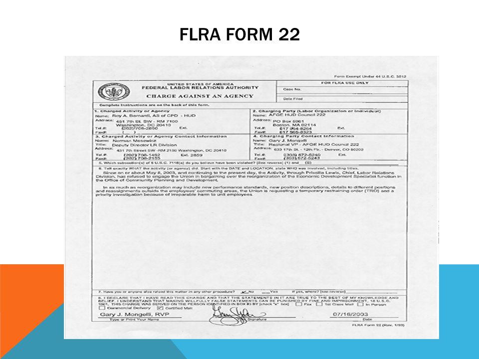 FLRA FORM 22