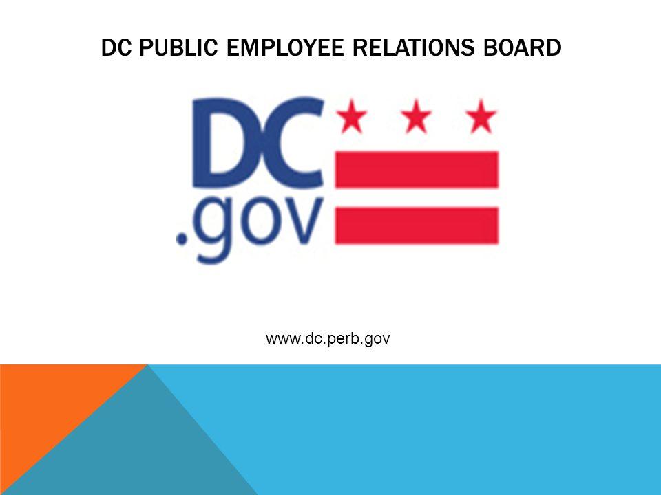DC PUBLIC EMPLOYEE RELATIONS BOARD www.dc.perb.gov