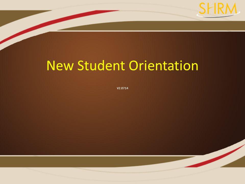 New Student Orientation V2.0714