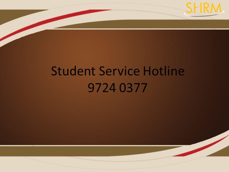 Student Service Hotline 9724 0377