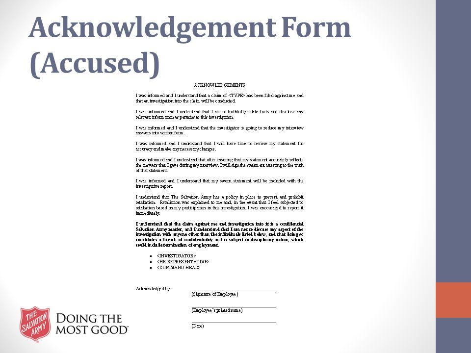 Acknowledgement Form (Accused)