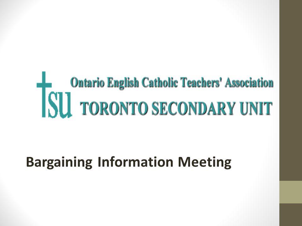 Bargaining Information Meeting