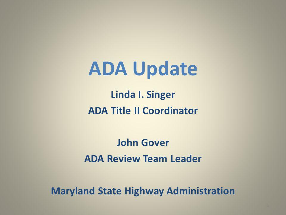 ADA Update Linda I.