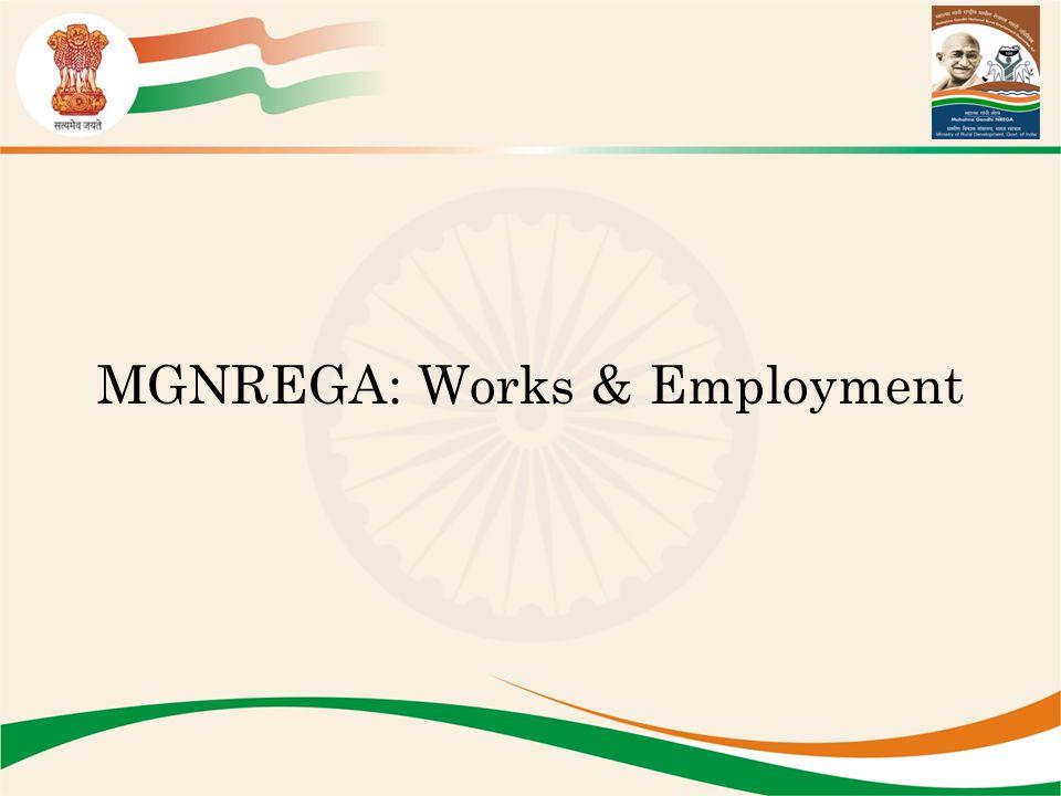 MGNREGA: Works & Employment