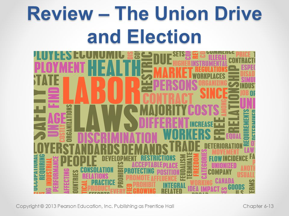 Review – The Union Drive and Election Copyright © 2013 Pearson Education, Inc.