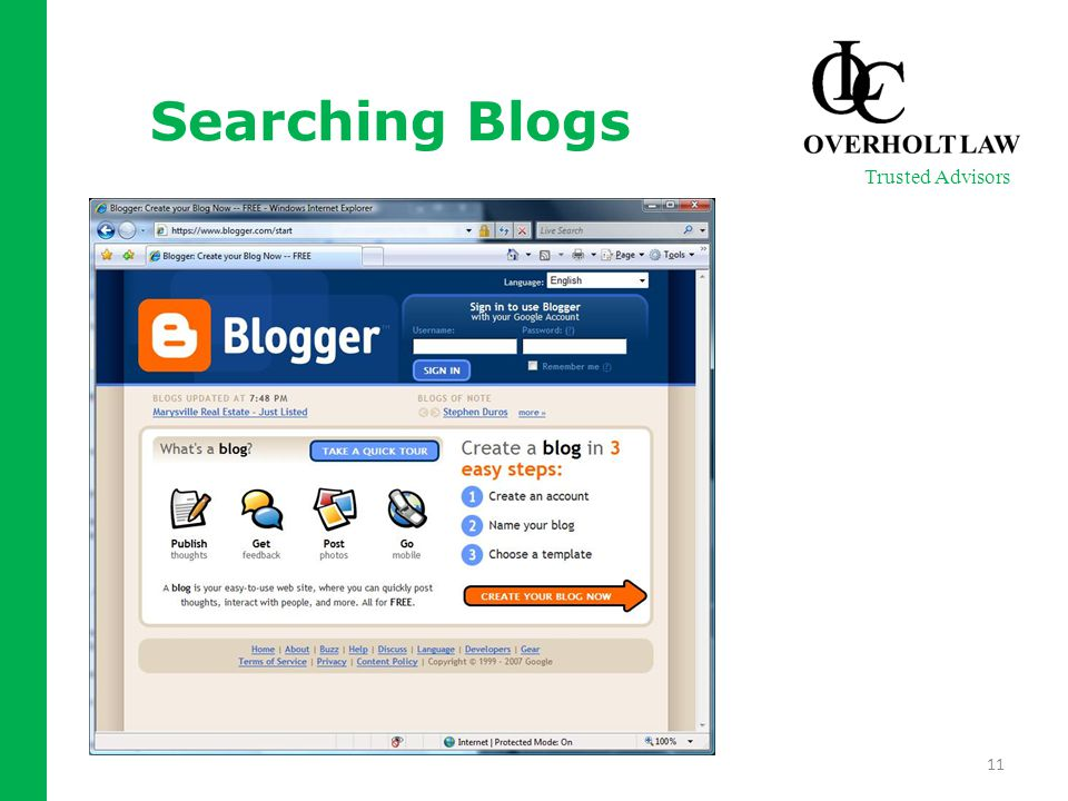 Searching Blogs 11 Trusted Advisors