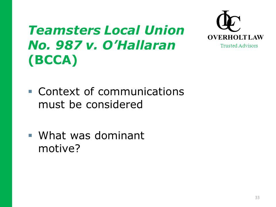 Teamsters Local Union No. 987 v.