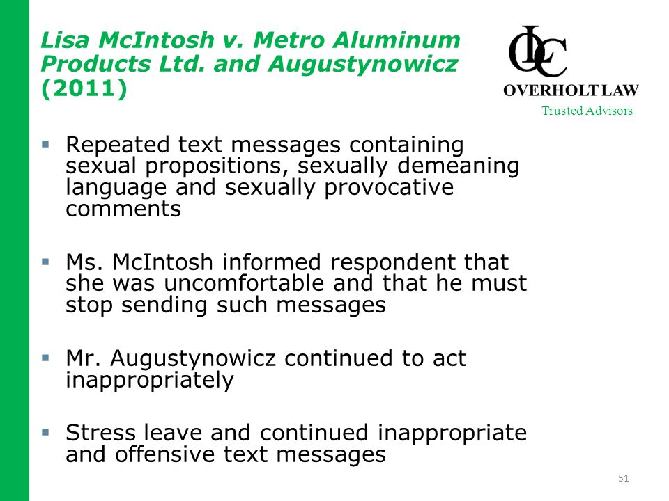 Lisa McIntosh v. Metro Aluminum Products Ltd.