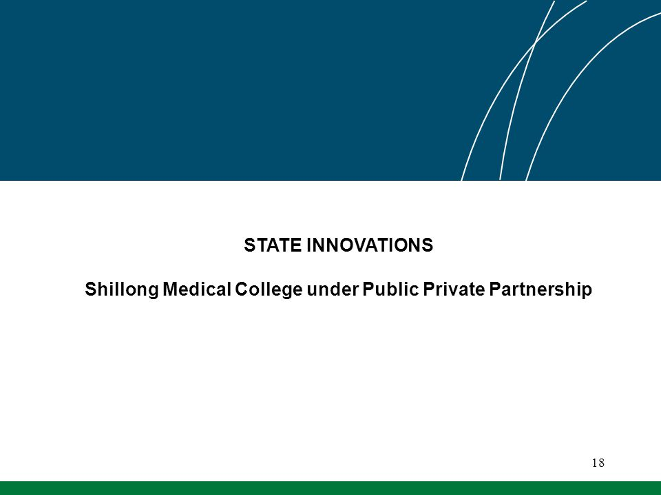 STATE INNOVATIONS Shillong Medical College under Public Private Partnership 18
