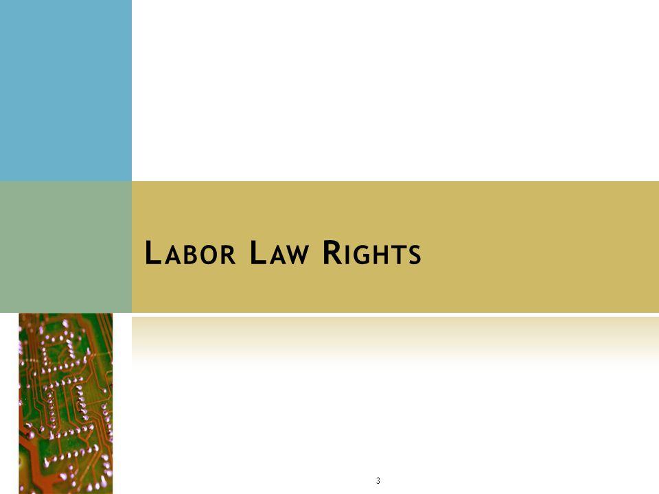L ABOR L AW R IGHTS : B ARGAINING R IGHTS Social media policies = mandatory for bargaining ??.