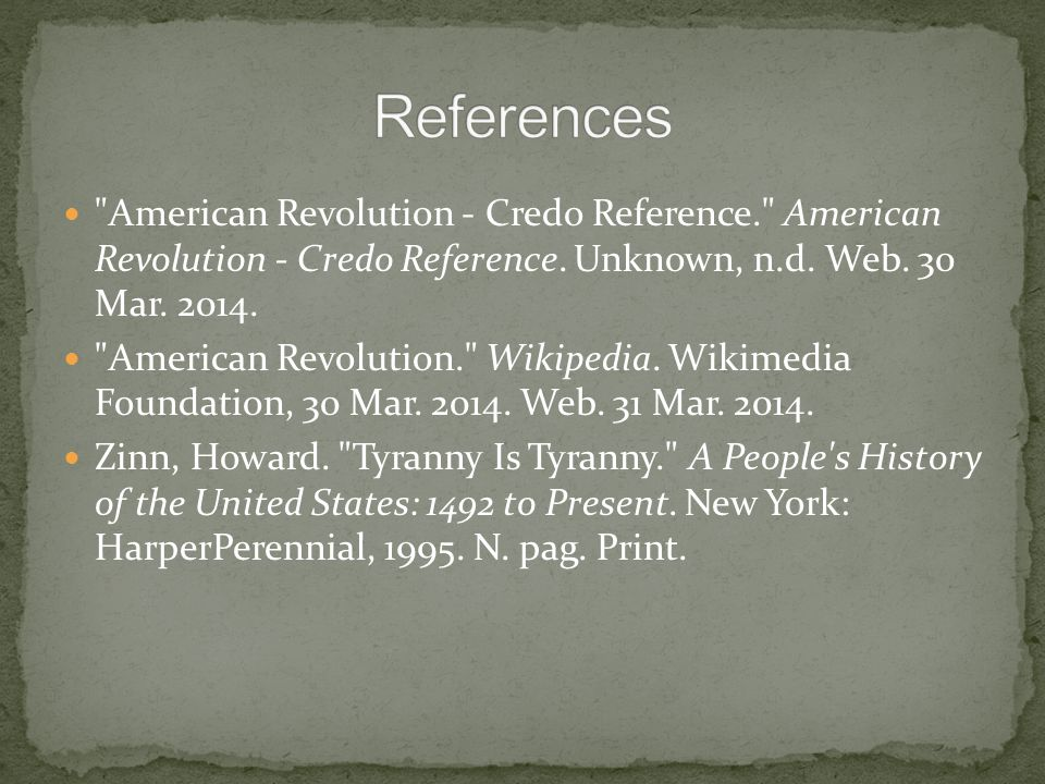 American Revolution - Credo Reference. American Revolution - Credo Reference.