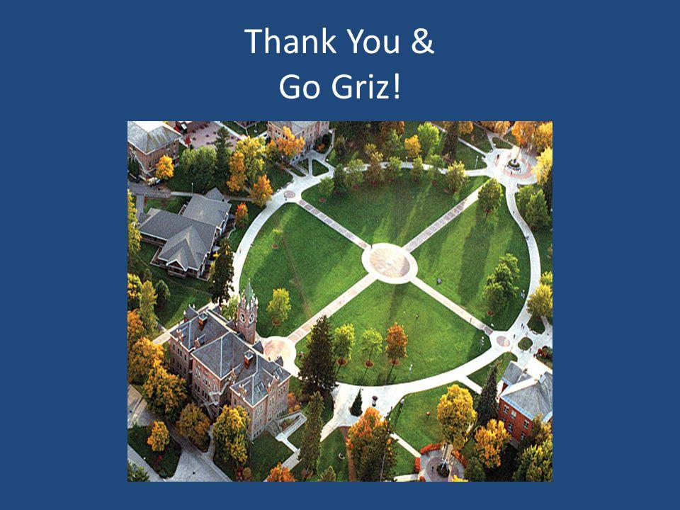 Thank You & Go Griz!
