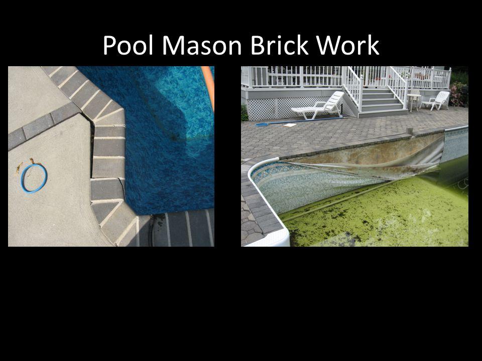 Pool Mason Brick Work