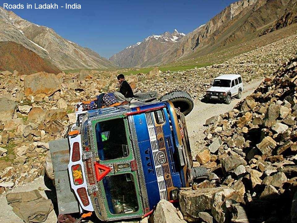Roads in Ladakh - India