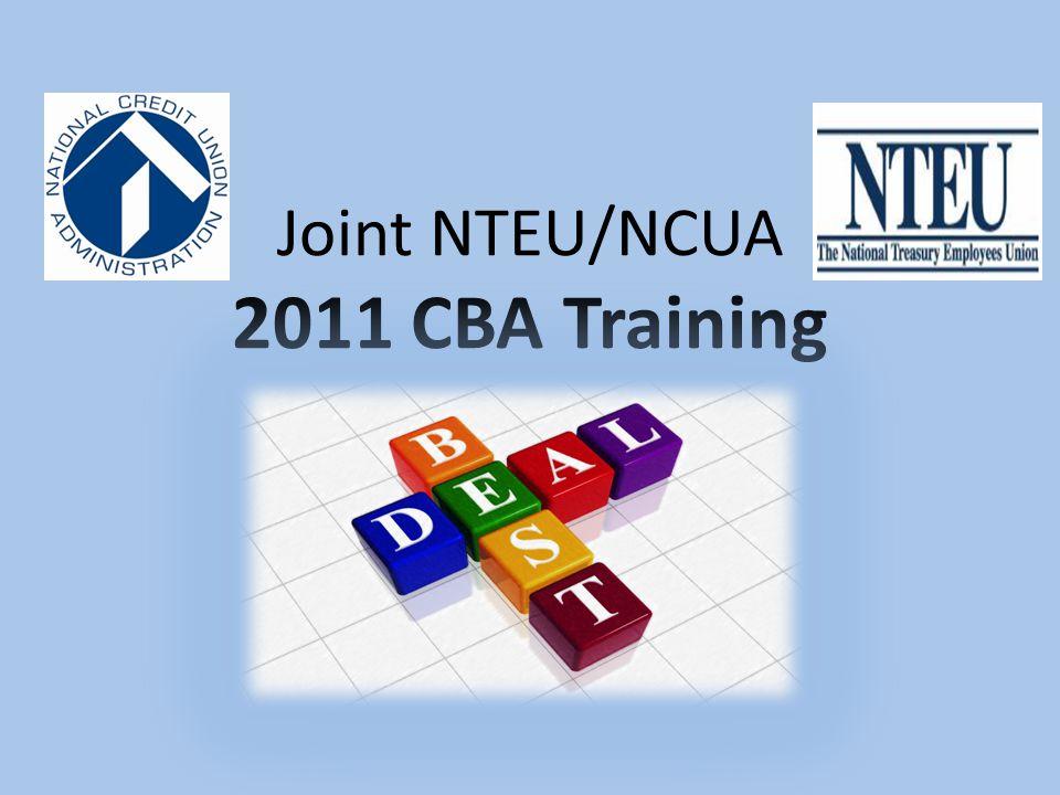 Joint NTEU/NCUA 2011 CBA Training