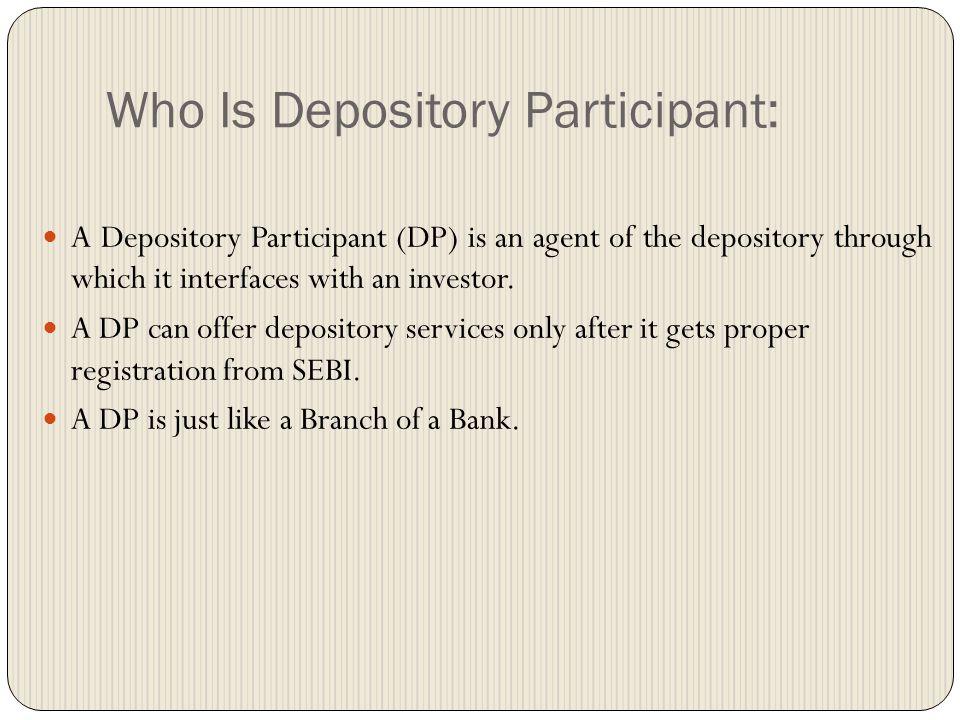 A Bank-Depository Analogy