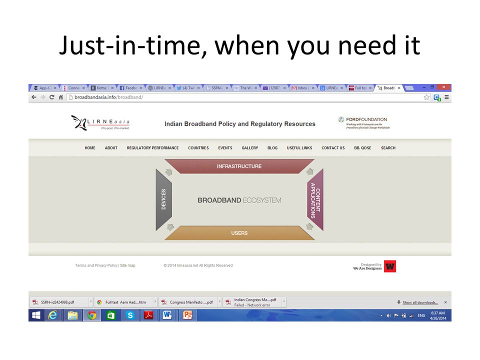 Just-in-time, when you need it