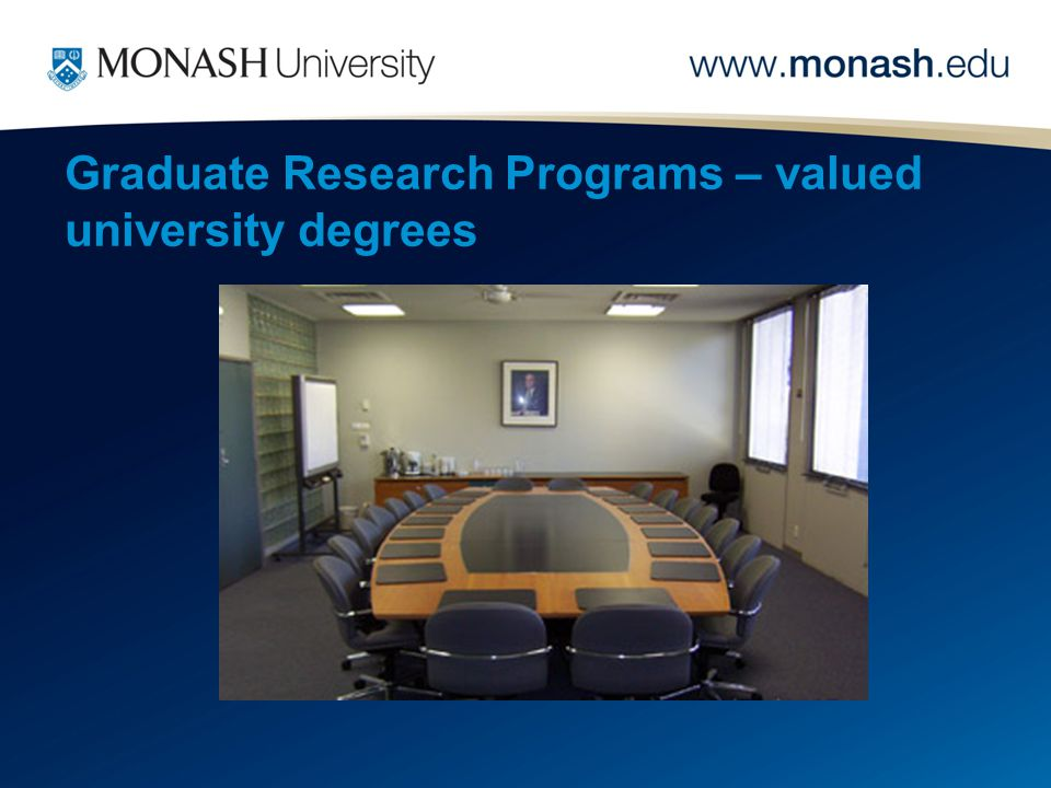 Graduate Research Programs – valued university degrees