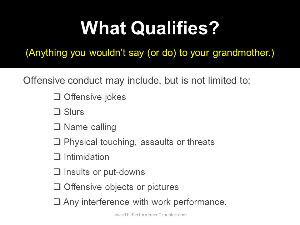 www.ThePerformanceGroupInc.com What Qualifies.