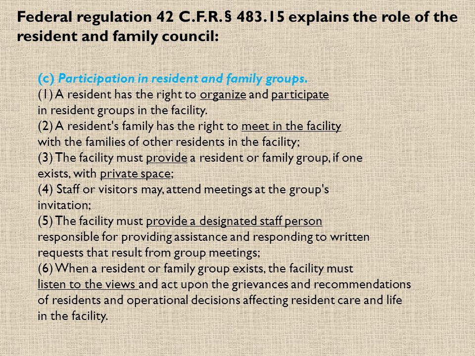Federal regulation 42 C.F.R.