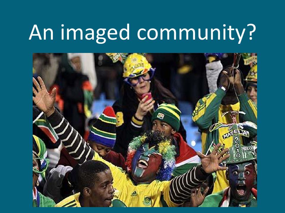 An imaged community?