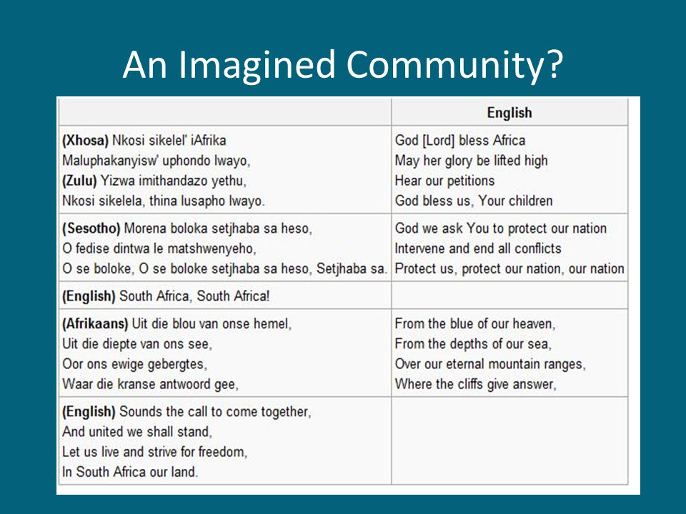 An Imagined Community?
