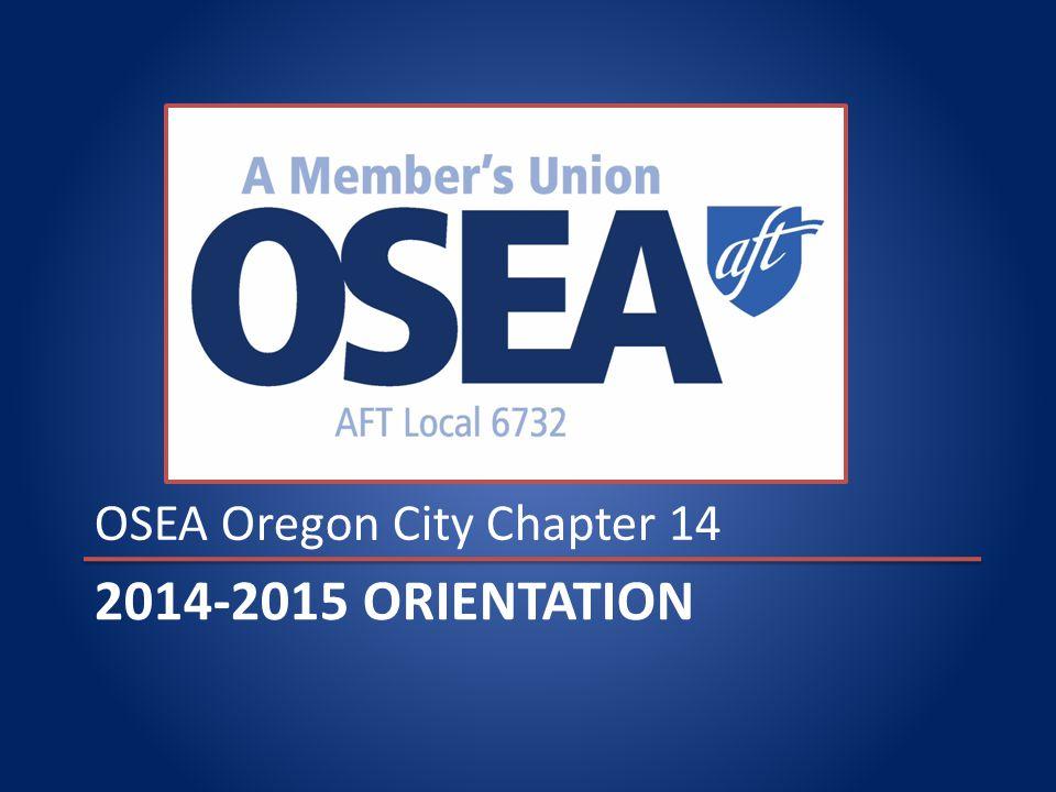 2014-2015 ORIENTATION OSEA Oregon City Chapter 14