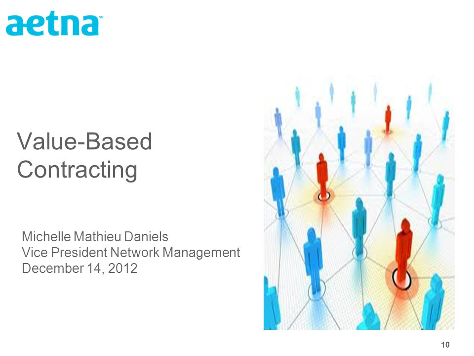 10 Value-Based Contracting Michelle Mathieu Daniels Vice President Network Management December 14, 2012