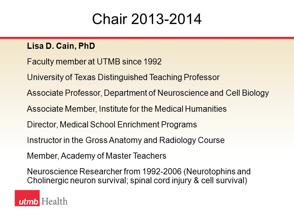 Major Activities 2013-2014 UT System Model HOP policies reviewed by the UTMB Faculty Senate.