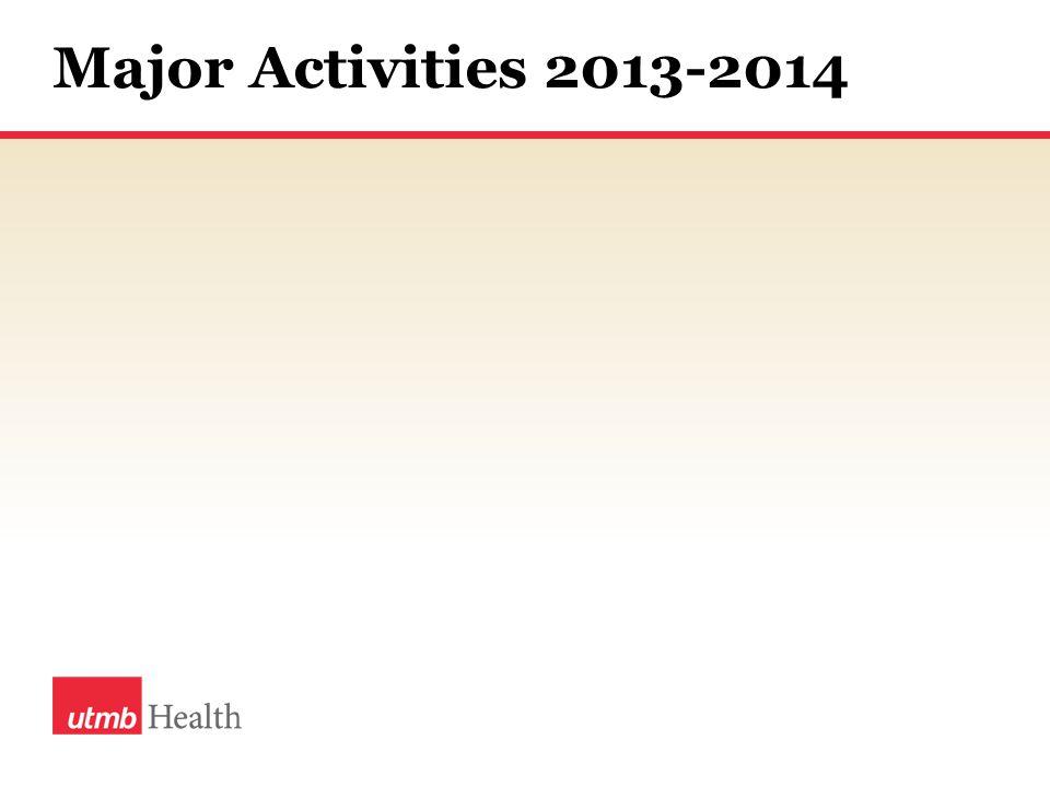 Major Activities 2013-2014