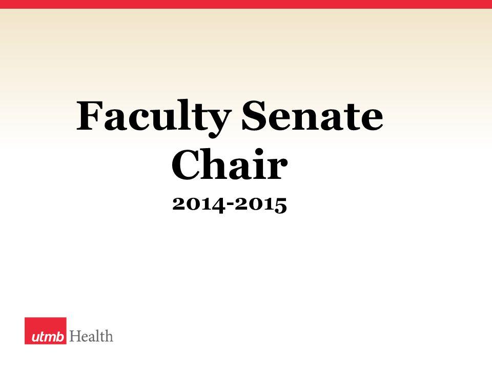 Faculty Senate Chair 2014-2015