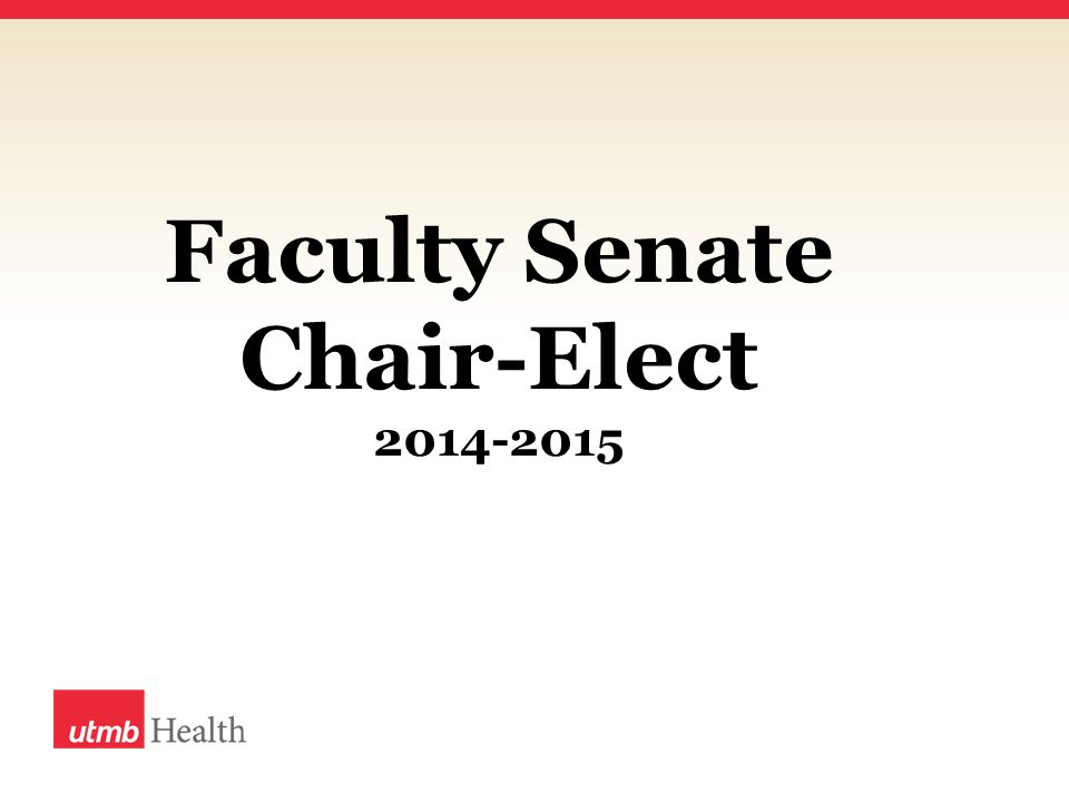 Faculty Senate Chair-Elect 2014-2015