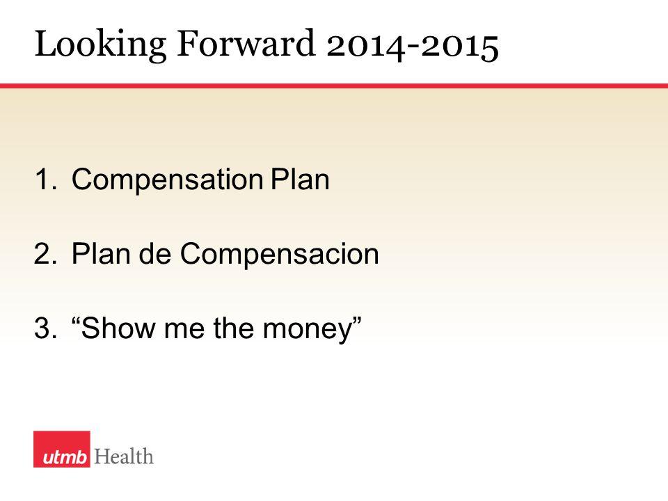 Looking Forward 2014-2015 1.Compensation Plan 2.Plan de Compensacion 3. Show me the money