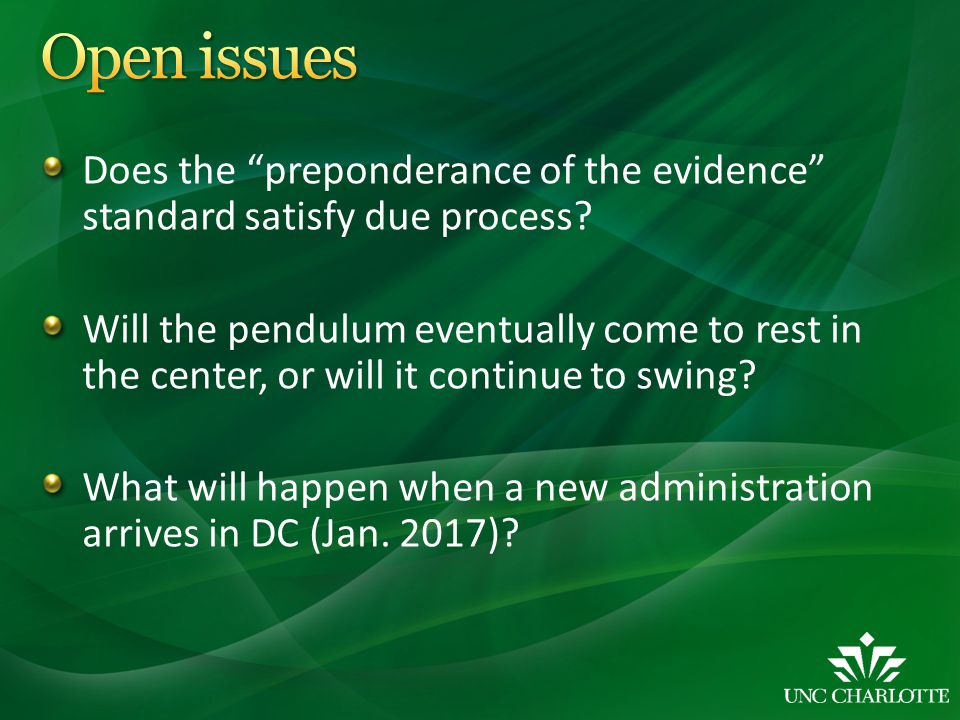 Does the preponderance of the evidence standard satisfy due process.