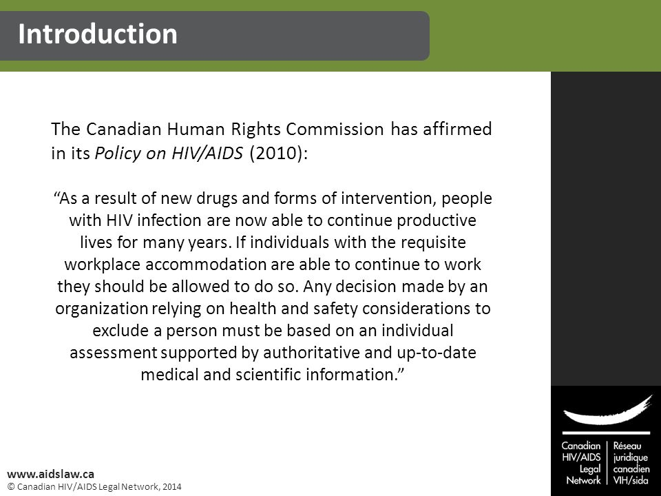 © Canadian HIV/AIDS Legal Network, 2014 www.aidslaw.ca 1.