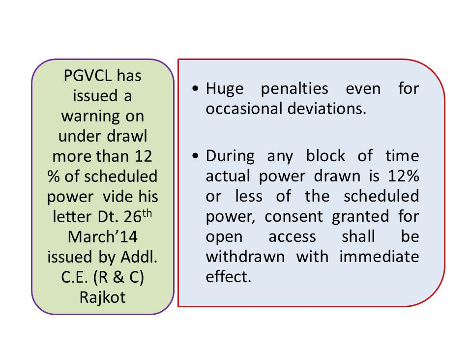 Huge penalties even for occasional deviations.