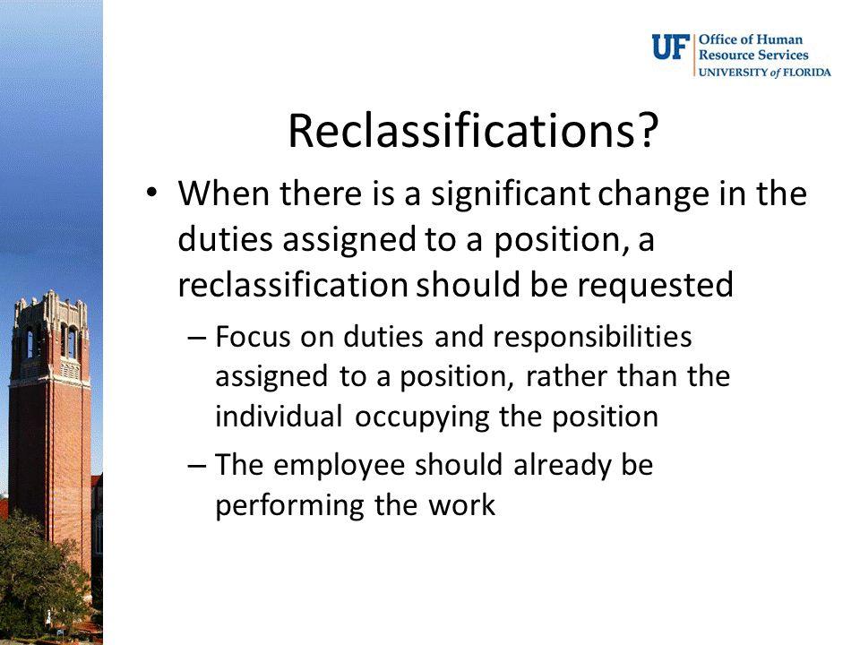 Reclassifications.