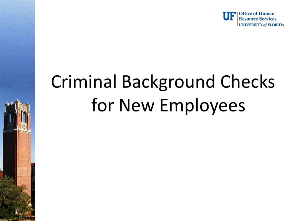 Criminal Background Checks for New Employees