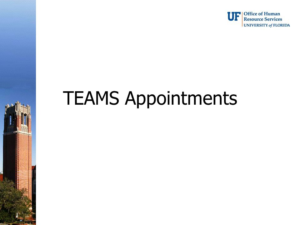 TEAMS Appointments