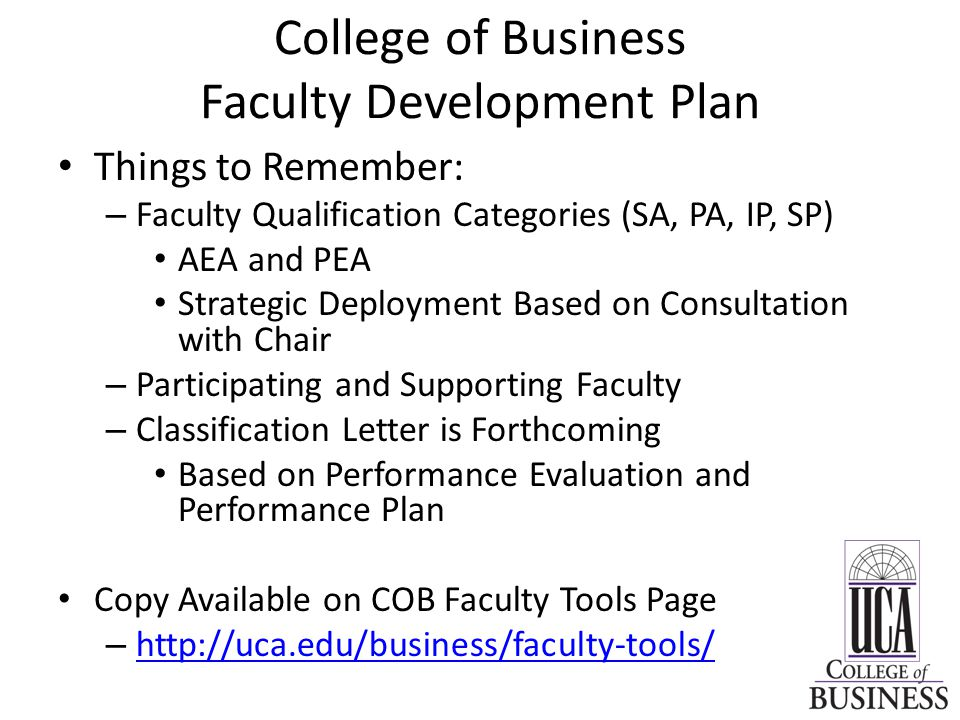 Things to Remember: – Faculty Qualification Categories (SA, PA, IP, SP) AEA and PEA Strategic Deployment Based on Consultation with Chair – Participat