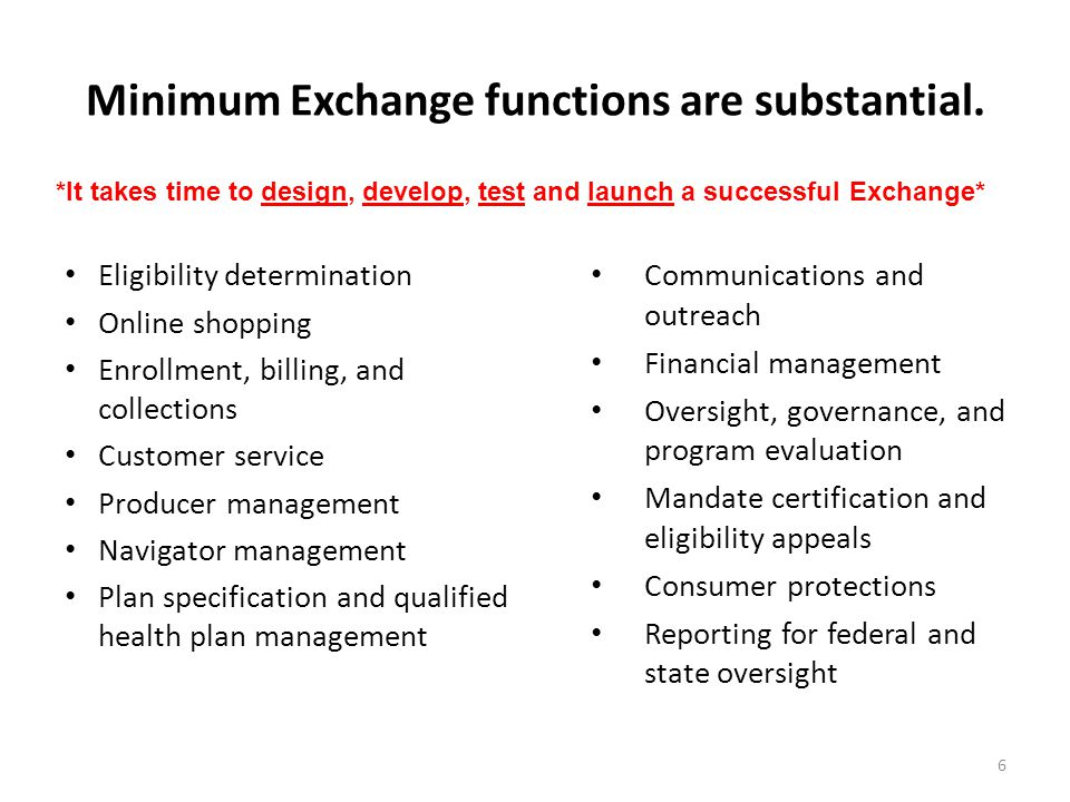 Minimum Exchange functions are substantial.