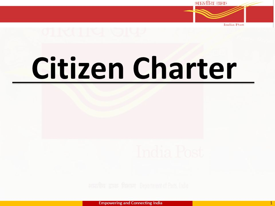 Citizen Charter 1Empowering and Connecting India