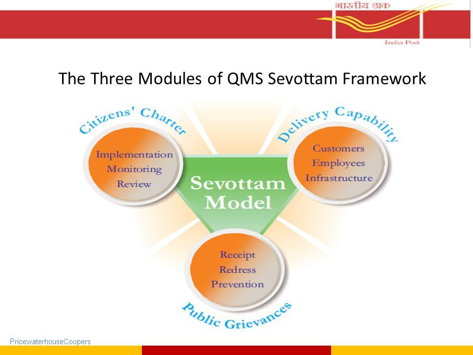 PricewaterhouseCoopers The Three Modules of QMS Sevottam Framework