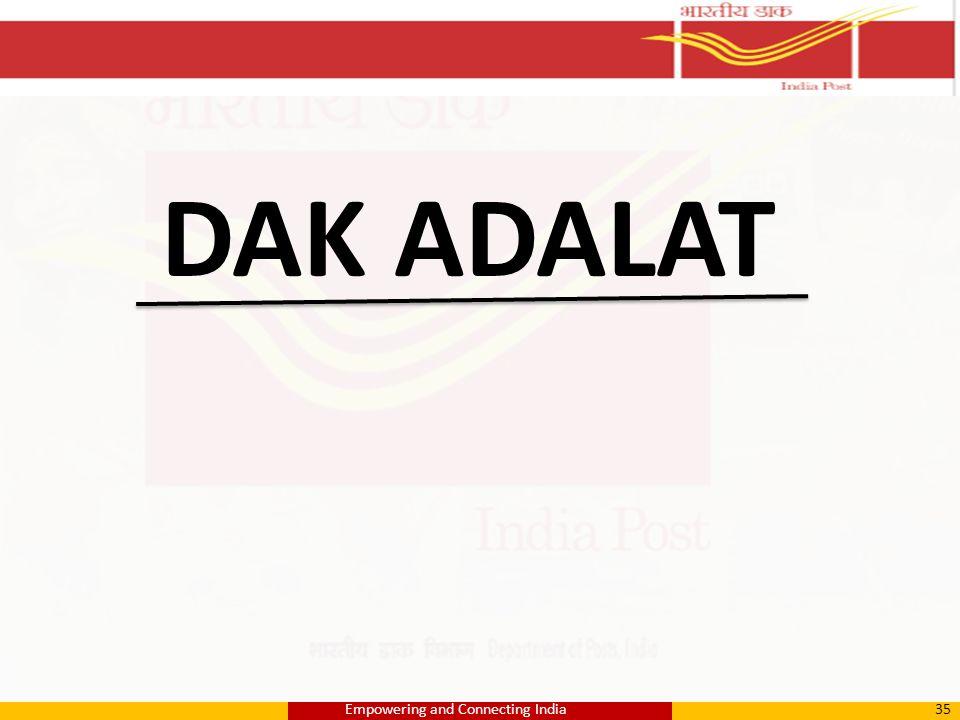 DAK ADALAT 35Empowering and Connecting India