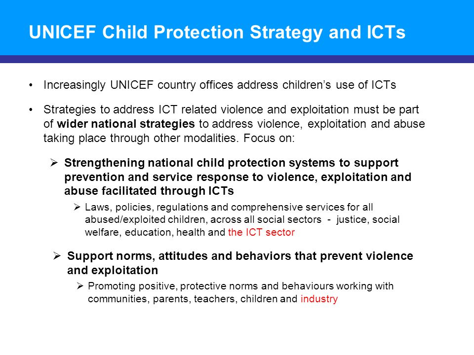 Date of Presentation Child online protection and participation © UNICEF/NYHQ2010-1016/OLIVIER ASSELIN