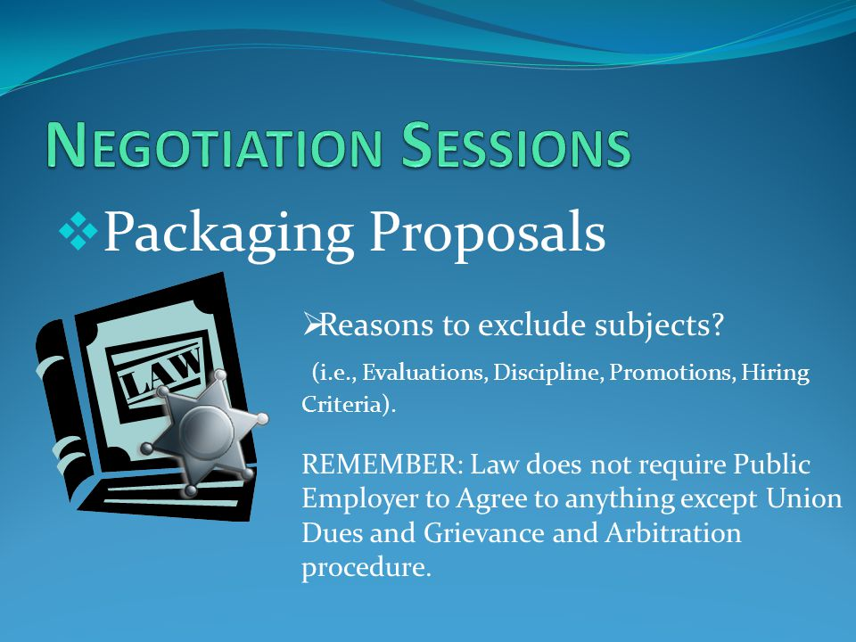  Packaging Proposals  Reasons to exclude subjects.