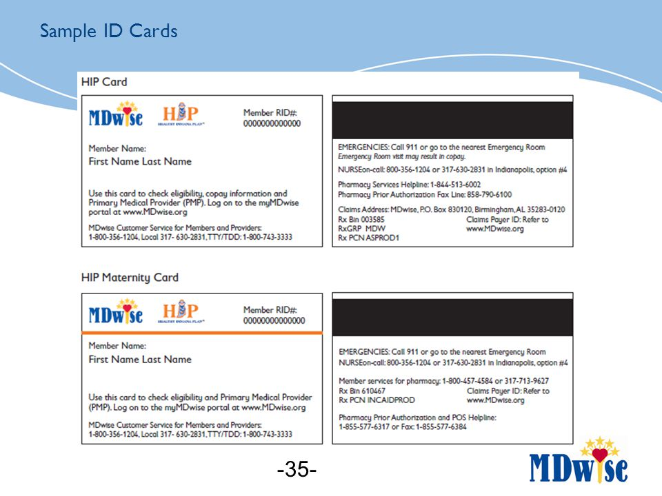 Sample ID Cards -35-